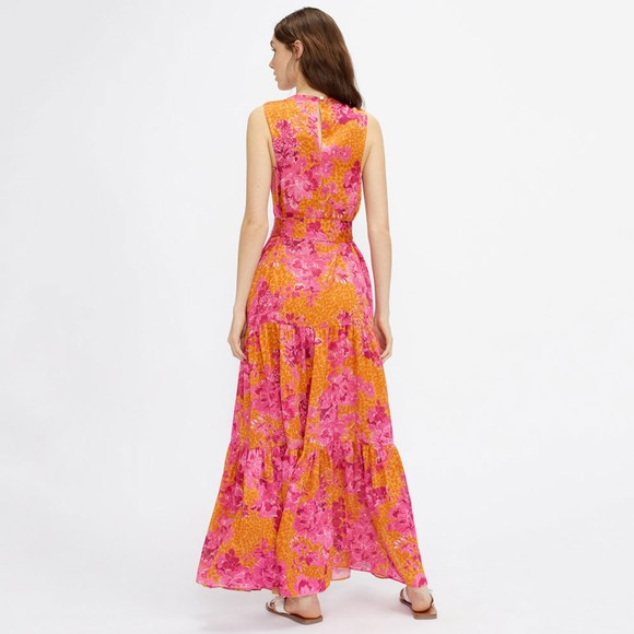 Ted Baker Womens Yellow Bambia Tiered Relaxed Maxi Dress main image