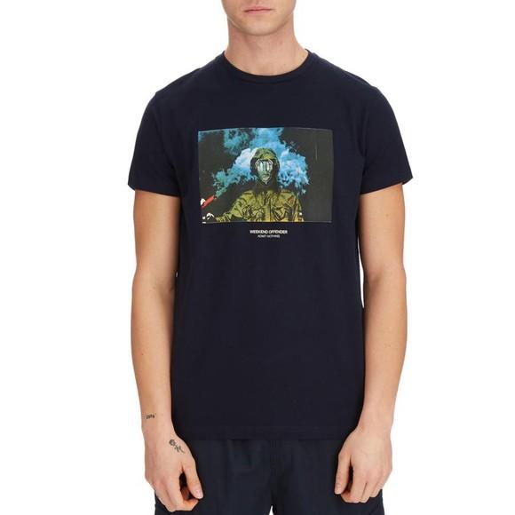 Weekend Offender Mens Blue Fusee T Shirt
