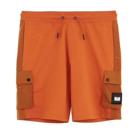 Weekend Offender Mens Orange Pink Sands Sweat Short