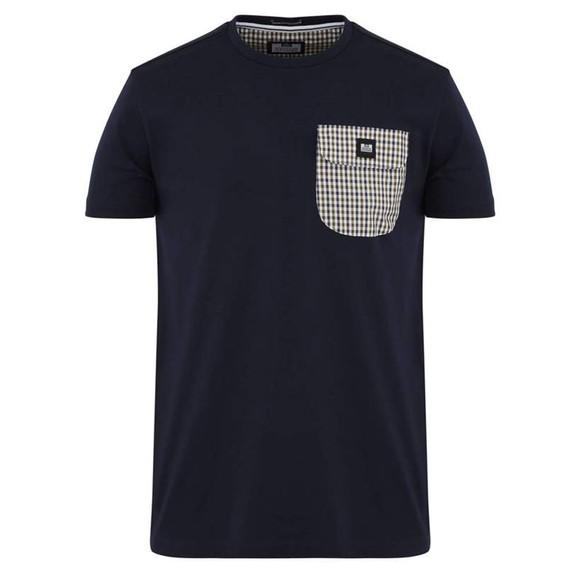Weekend Offender Mens Blue Lucky Bay Pocket T Shirt