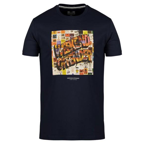 Weekend Offender Mens Blue Thrills T Shirt