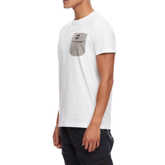 Weekend Offender Mens White Lucky Bay Pocket T Shirt