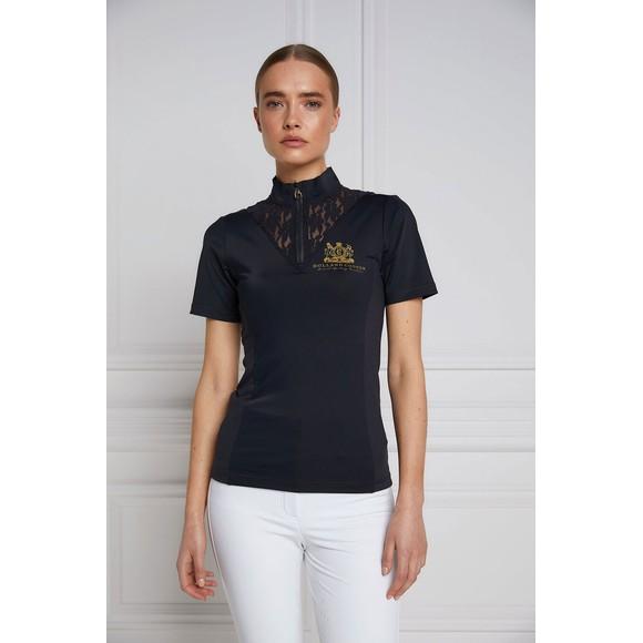 Holland Cooper Womens Grey Lace Short Sleeve Base Layer main image