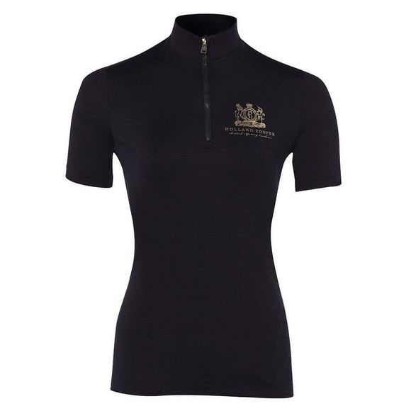 Holland Cooper Womens Black Short Sleeve Base Layer main image