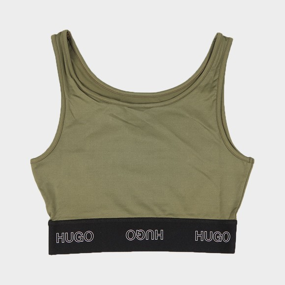 HUGO Womens Green Dimsum Logo Tank Top