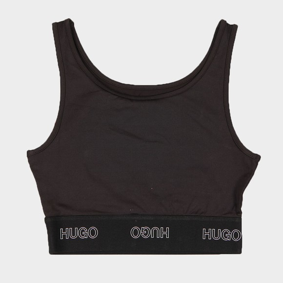 HUGO Womens Black Dimsum Logo Tank Top