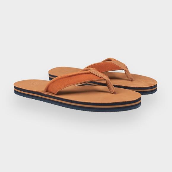 Superdry Mens Brown Premium Surf Leather Flip Flop