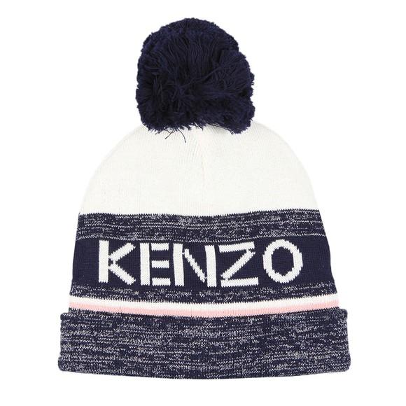 Kenzo Kids Girls Blue Logo Bobble Hat