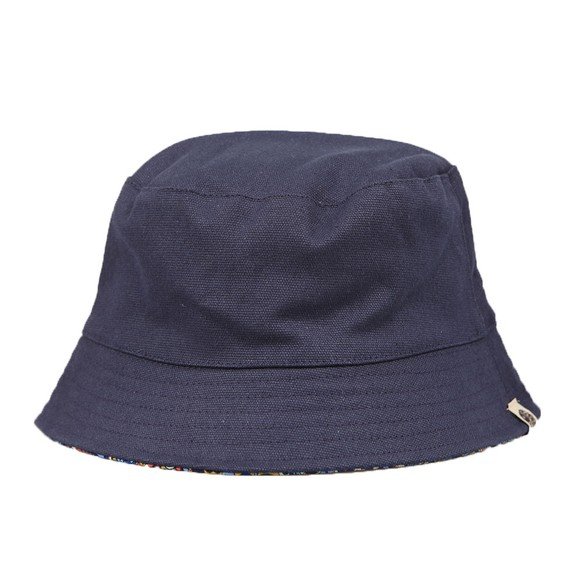 Pretty Green Mens Blue Reversible Paisley Bucket Hat