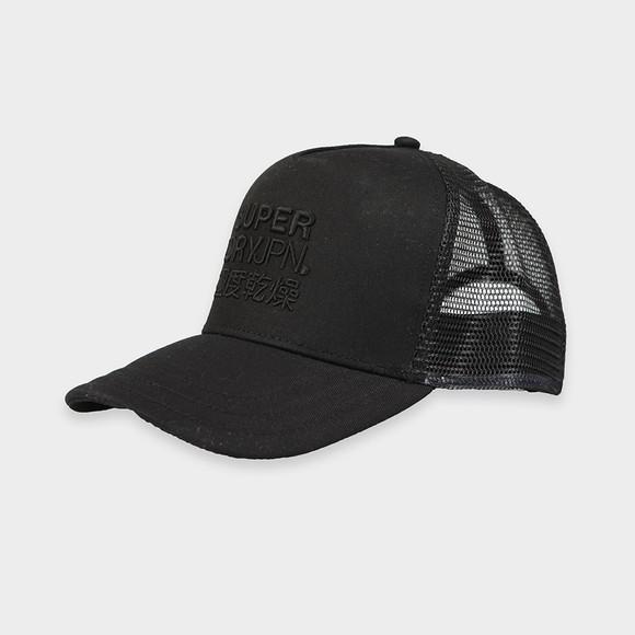 Superdry Mens Black Logo Trucker Cap main image