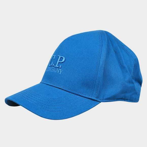 C.P. Company Mens Blue Embroidered Logo Cap