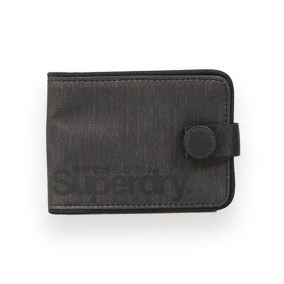Superdry Mens Black Tarp One Popper Wallet main image