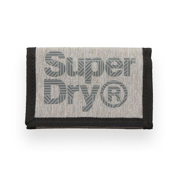 Superdry Mens Grey Velcro Logo Wallet
