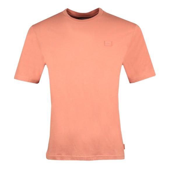 J.Lindeberg Mens Pink Dale Logo Patch T-Shirt