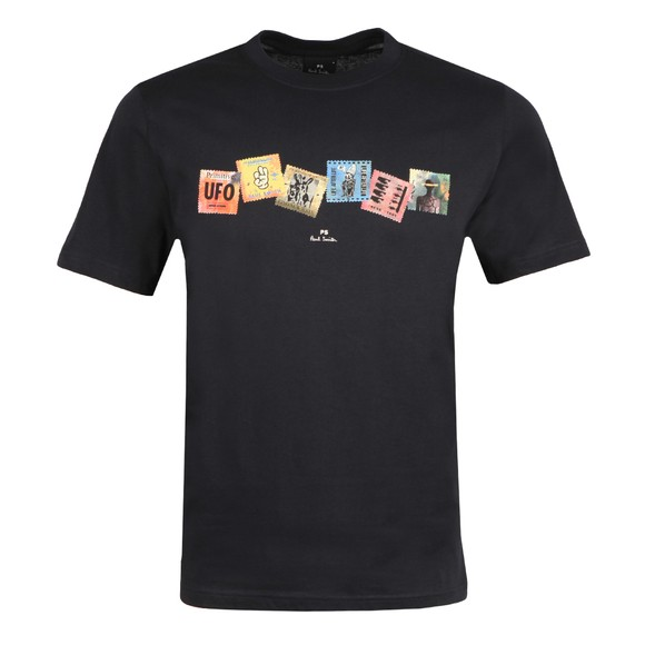 PS Paul Smith Mens Blue Stamps T-Shirt