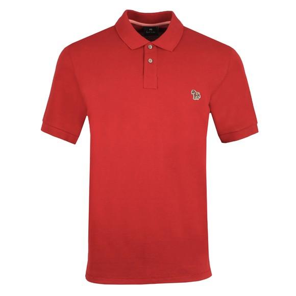 PS Paul Smith Mens Red Zebra Polo Shirt