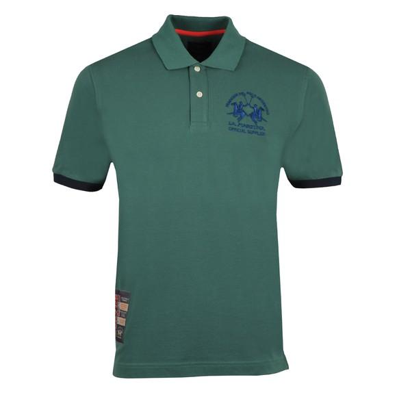 La Martina Mens Green Large Logo Polo Shirt