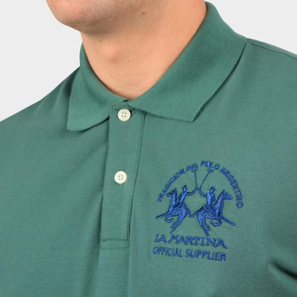 La Martina Mens Green Large Logo Polo Shirt main image
