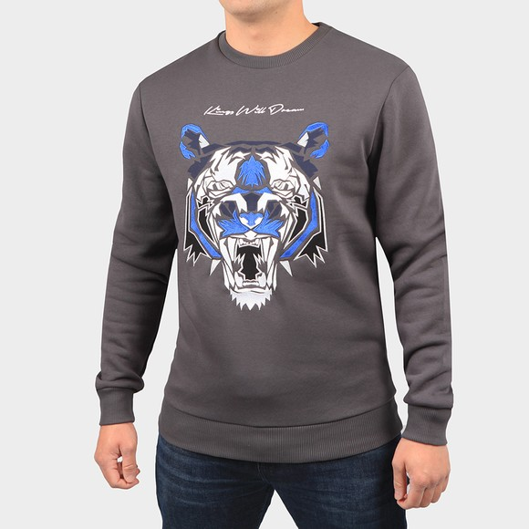 Kings Will Dream Mens Grey Demon Fleece Sweatshirt