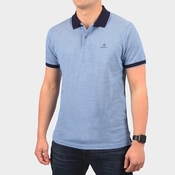 Gant Mens Blue S/S Oxford Rugger Polo Shirt