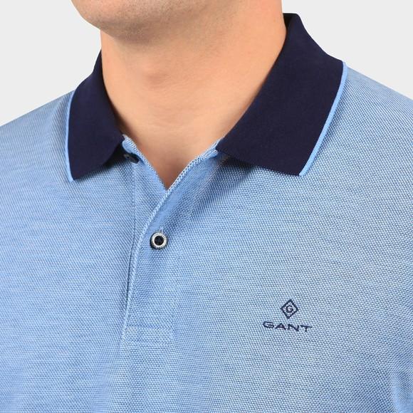 Gant Mens Blue S/S Oxford Rugger Polo Shirt main image