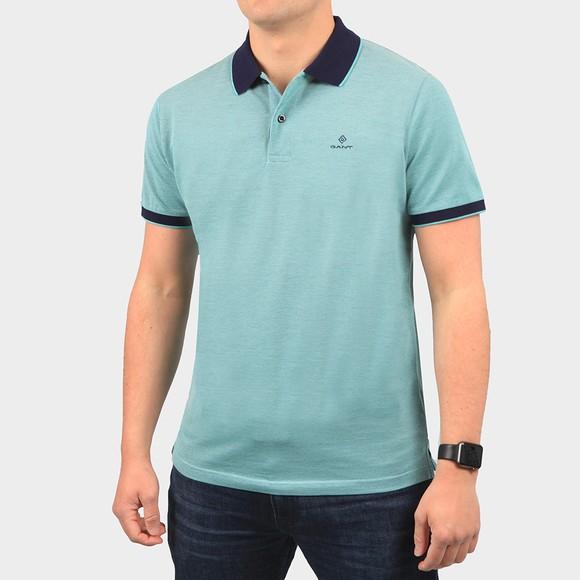 Gant Mens Green S/S Oxford Rugger