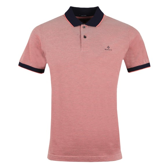 Gant Mens Pink S/S Oxford Rugger Polo Shirt