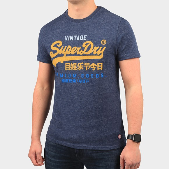 Superdry Mens Blue Tri T-Shirt 220