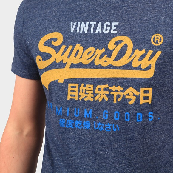Superdry Mens Blue Tri T-Shirt 220 main image