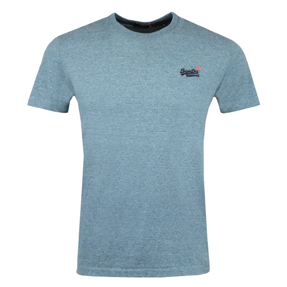 Superdry Mens Blue OL Vintage Embroidery T-Shirt