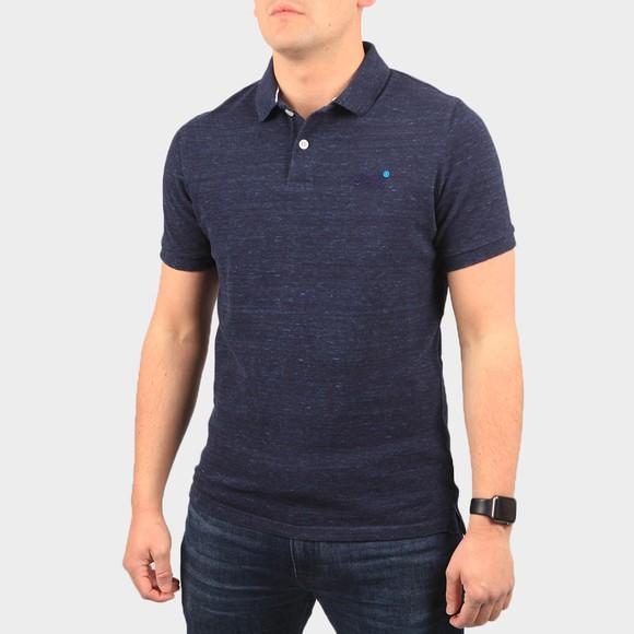 Superdry Mens Blue Classic Pique Polo Shirt