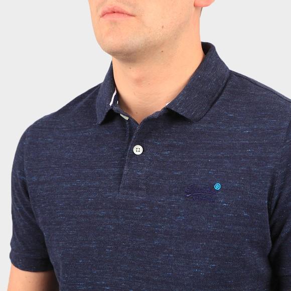 Superdry Mens Blue Classic Pique Polo Shirt main image