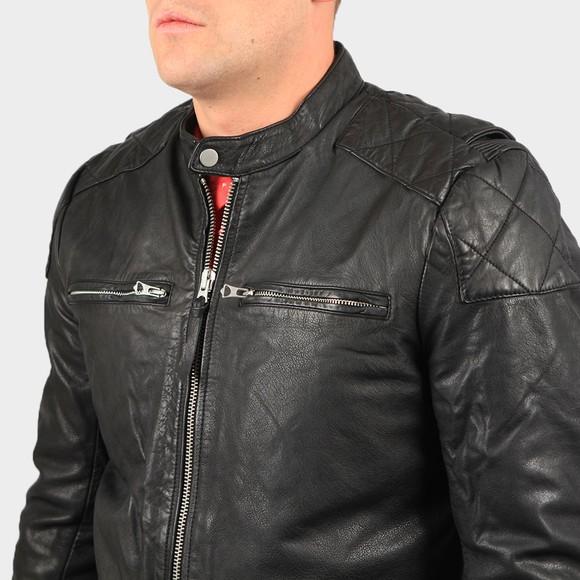 Superdry Mens Black Moto Racer Jacket main image