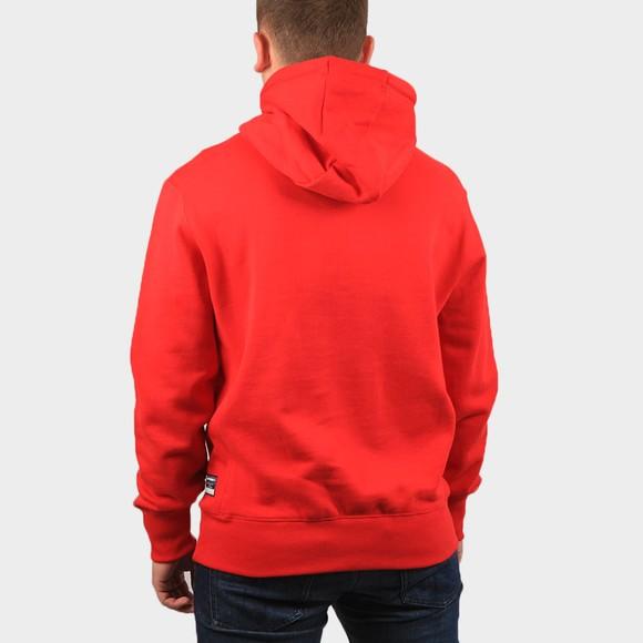 Superdry Mens Red Embossed Hoody main image