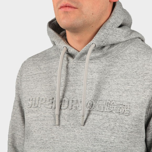 Superdry Mens Grey Embossed Hoody main image