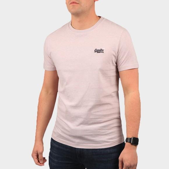 Superdry Mens Pink OL Vintage Embroidery T-Shirt