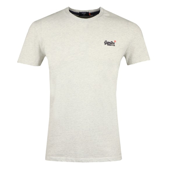 Superdry Mens White OL Vintage Embroidery T-Shirt