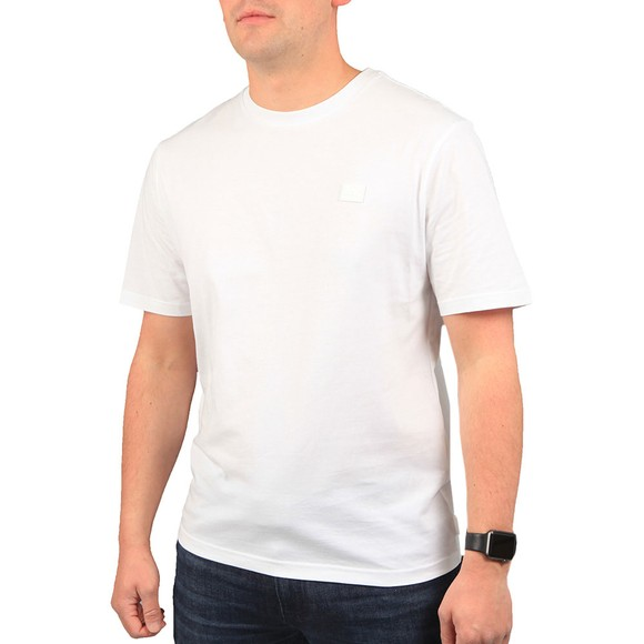 J.Lindeberg Mens White Dale Logo Patch T-Shirt