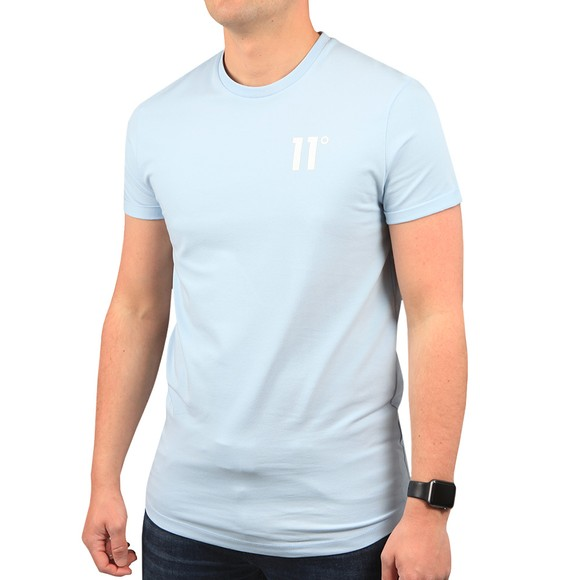 Eleven Degrees Mens Blue Core Muscle T-Shirt