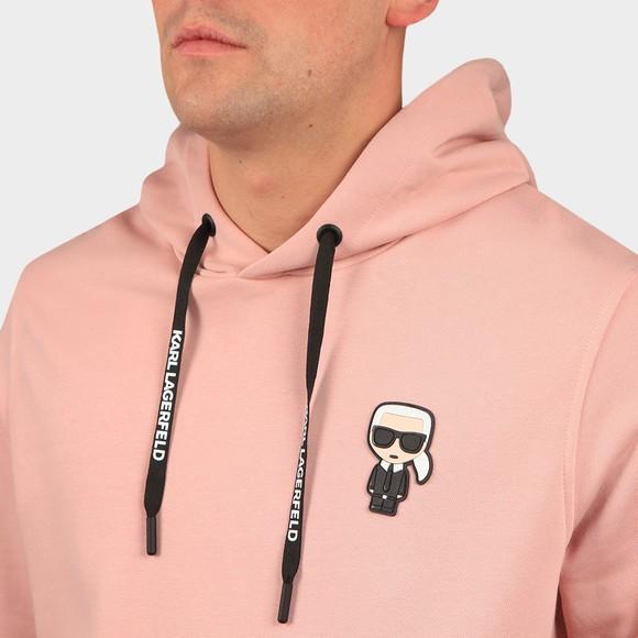 Karl Lagerfeld Mens Pink Ikonic Karl Overhead Hoody main image