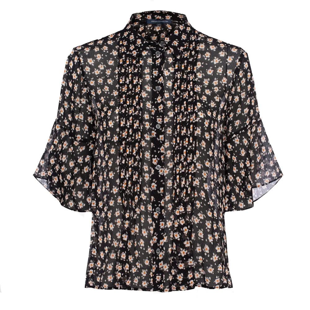 Aura Ditsy Dobbie Pintuck Shirt main image