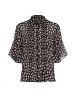 Aura Ditsy Dobbie Pintuck Shirt