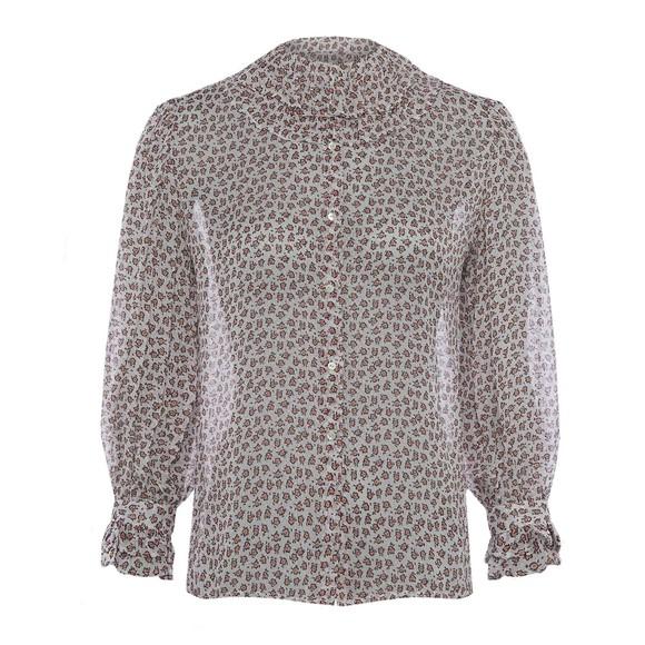 French Connection Womens White Aura Ditsy Dobbie Shirt