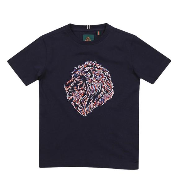 Luke 1977 Boys Blue Tapestry Jnr Lion Print T Shirt