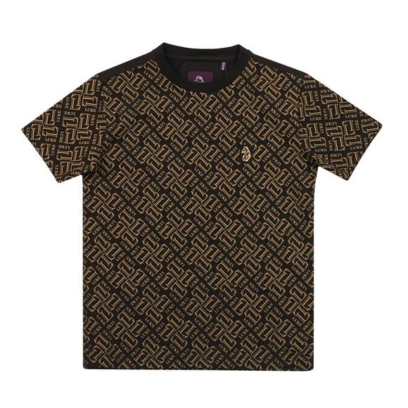 Luke 1977 Boys Black Richards Junior T-Shirt