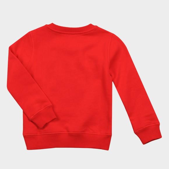 Kenzo Kids Girls Red Embroidered Tiger Sweatshirt