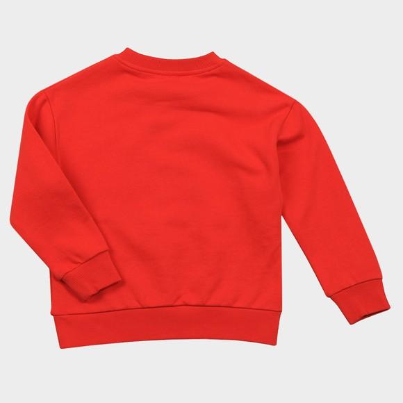 Kenzo Kids Boys Red Embroidered Tiger Sweatshirt