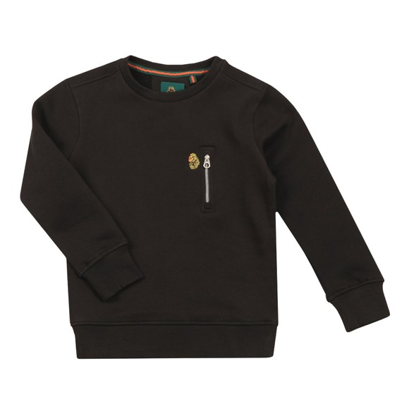 Luke 1977 Boys Black Paris 2 JNR Zip Sweatshirt main image
