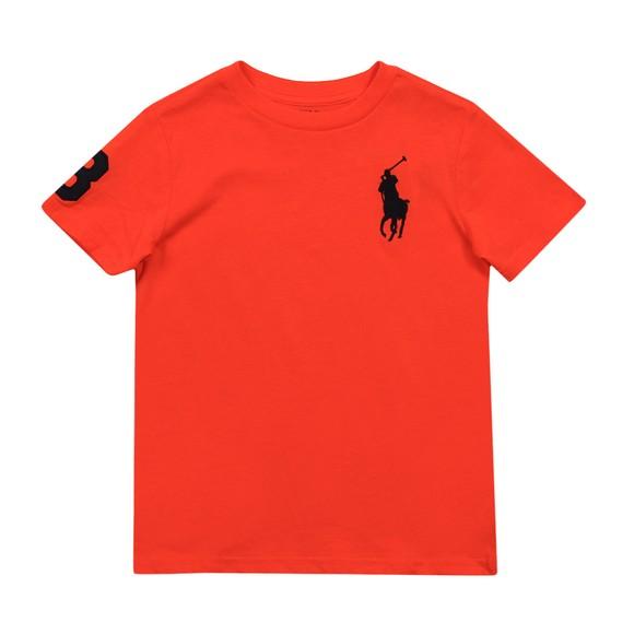 Polo Ralph Lauren Boys Orange Large Polo Player Crew T-Shirt main image