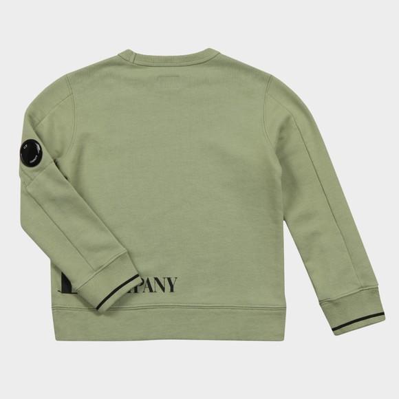 C.P. Company Undersixteen Boys Green Large Logo Viewfinder Sweatshirt